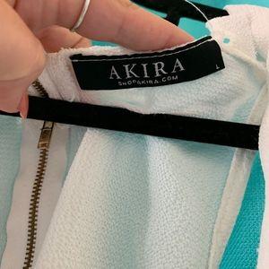 AKIRA Tops - Flowy, White, crop top